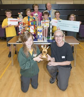 Feature image for Schools take part in AWE's Chain Reaction Challenge