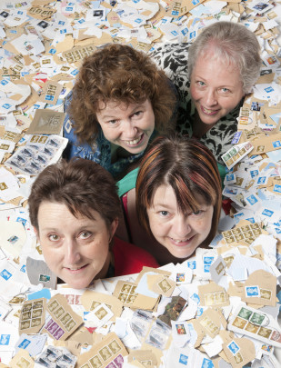Feature image for AWE supports Naomi House with site wide stamp collection