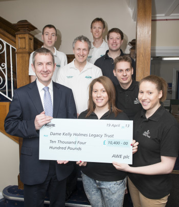 Feature image for AWE  presents cheques to Cornerstone and Dame Kelly Legacy Fund