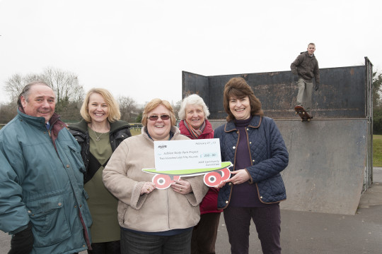 Feature image for AWE supports Thatcham skate park