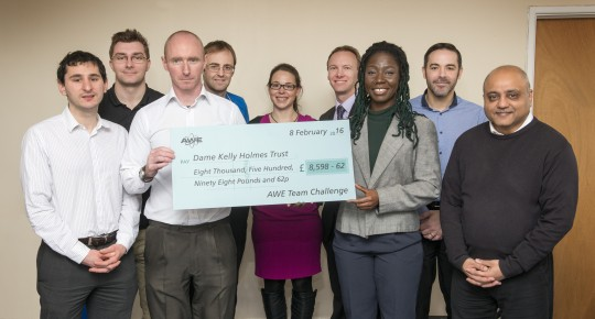 Feature image for AWE staff raise £17,000 for charities